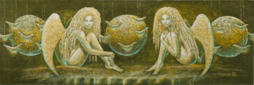 paveikslai internetu Two angels