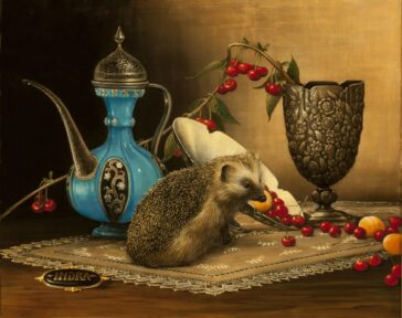 Kokybiskos reprodukcijos Nature morte with hedgehog (2013)