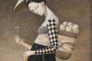 reprodukcija ant drobes Girl carrying the rice paper