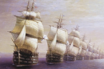 [K] Parade of the black sea fleet in 1849