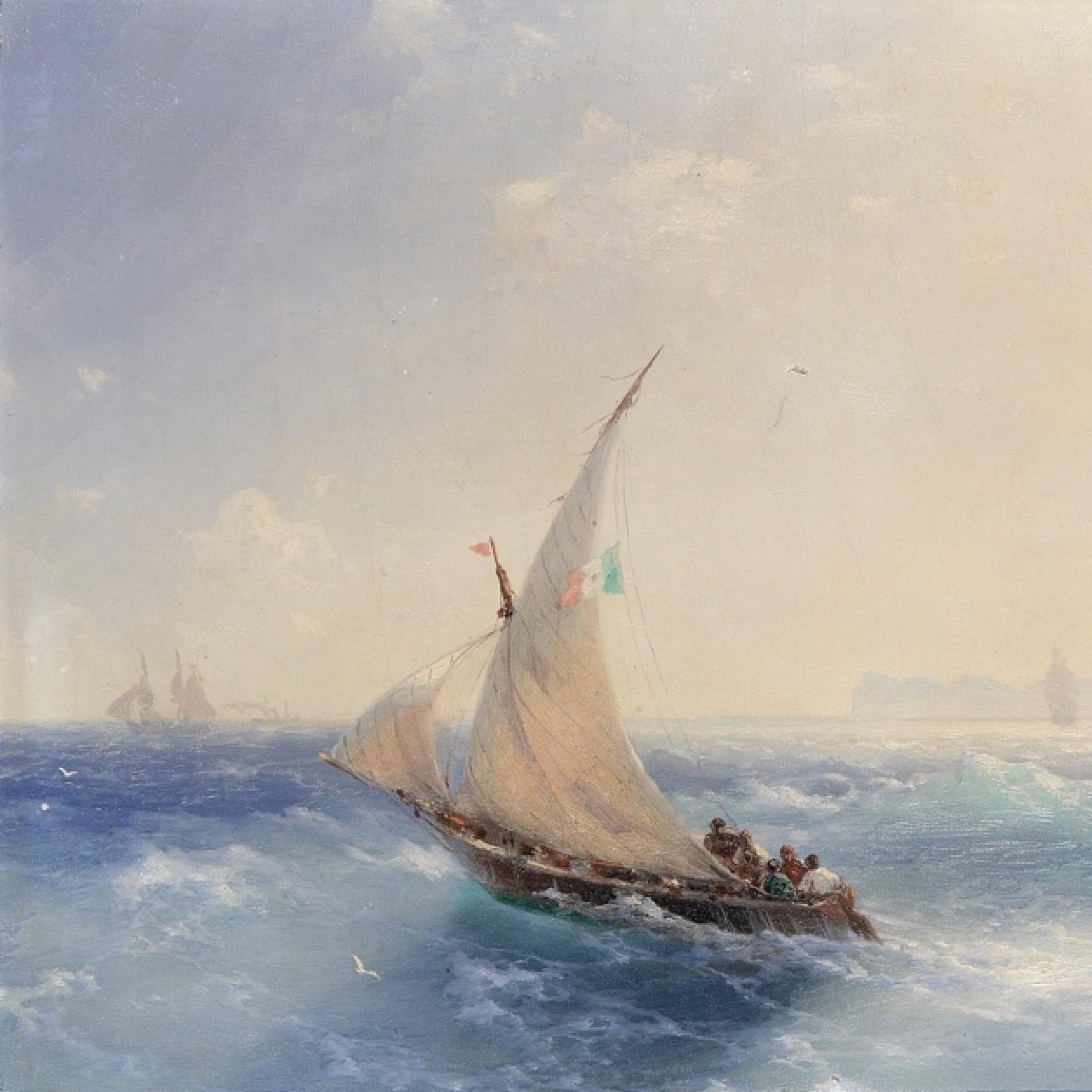 interjero detale Ivan Aivazovskuy - gabenimas i ischia sala